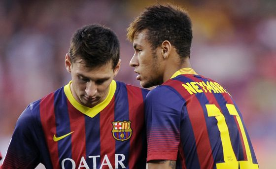 Messi and Neymar, two world cracks together in the ranks of Barcelona.
