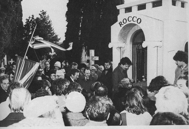 El entierro de Rocco fue multitudinario.