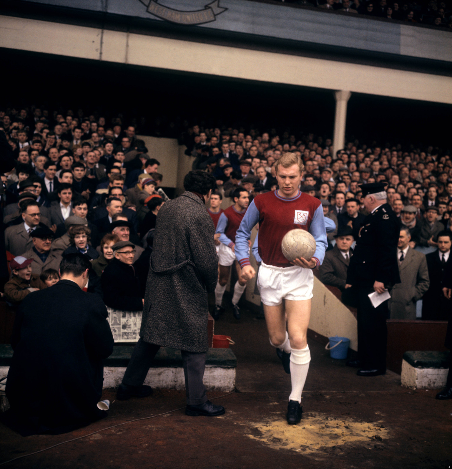 Bobby Moore is a legend at West Ham.