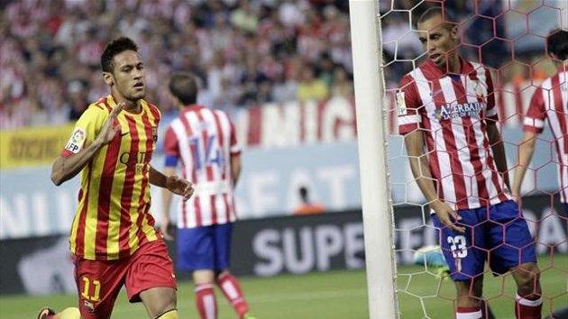 Neymar marcó su primer tanto oficial en la Supercopa.