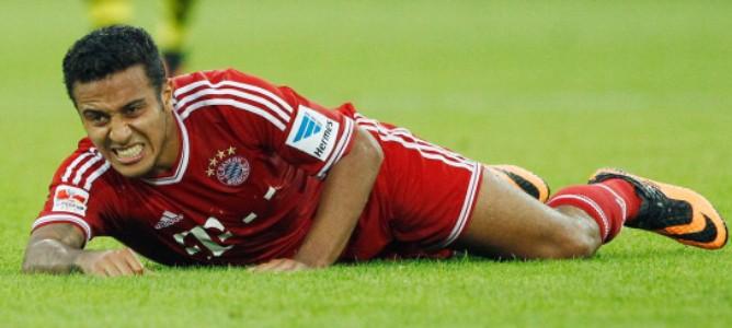 Thiago estará siete semanas de baja por su lesión en el tobillo.