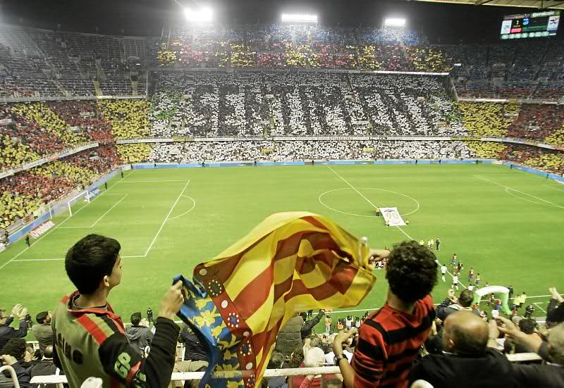 La afición del Valencia era junto a la del Atlético la mejor de España.