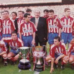 Football 90's: doublet of Atletico Madrid 1996