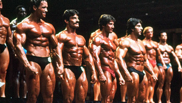Arnold, Mike Mentzer and Franck Zane on an image of the controversial Mr Olympia 1980.