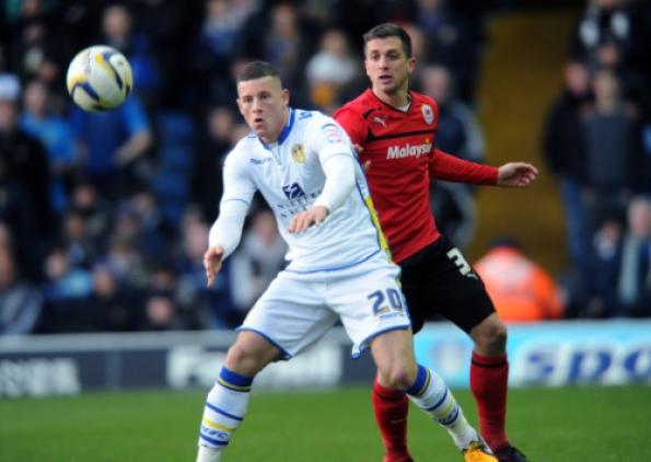 Ross Barkley jugó la temporada pasada en el Leeds United.