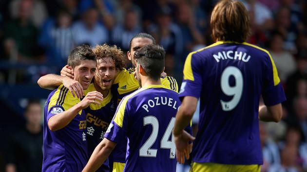 """El """"Spanish Swansea"""" de Laudrup y los 8 españoles sigue su paso firme en la Premier."""