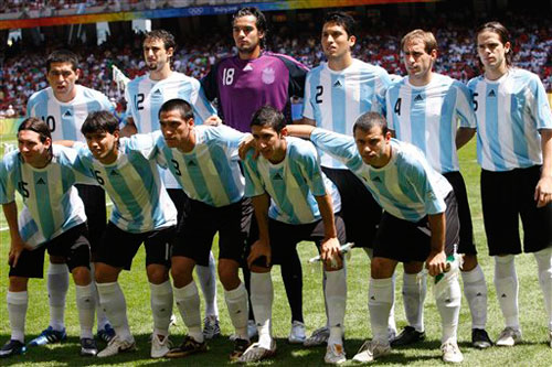 Argentina won the Olympic gold in Beijing 2008.