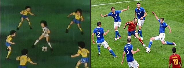Iniesta has been compared many times to Oliver Atom.