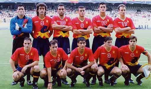 Este era el equipo base de España en 1992.