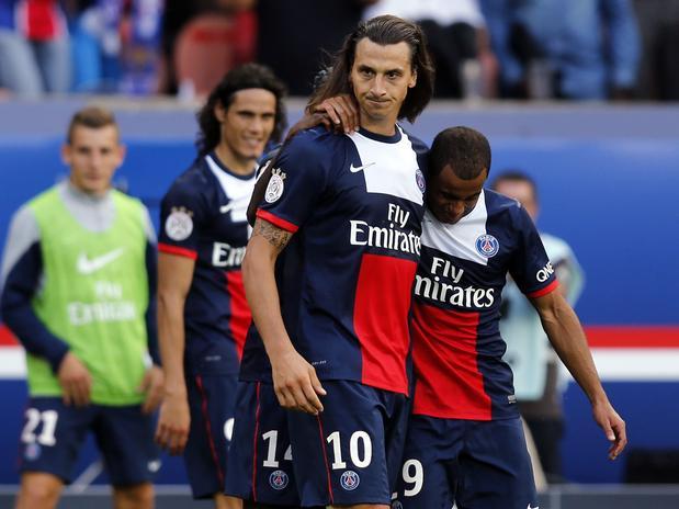 Ibrahimovic anotó un gol contra el Guincamp.