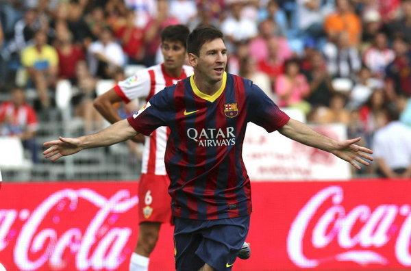 Messi marcó y se lesionó.