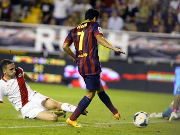 Pedro marcó su primer hat trick de su carrera.
