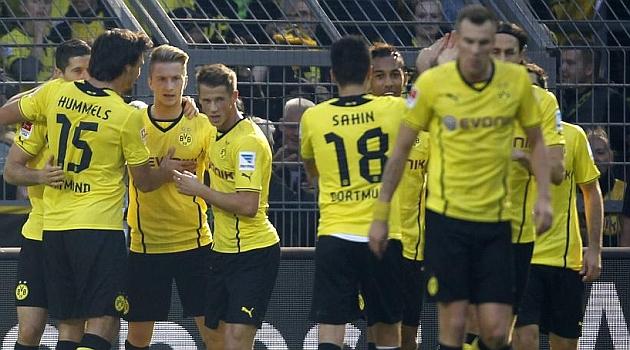Reus y Lewandowski se marcaron un doblete cada uno.