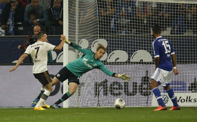 Ribery sigue su idilio con el gol.