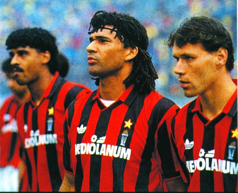 Gullit, Van Basten y Rijkaard. Un trío de oro.