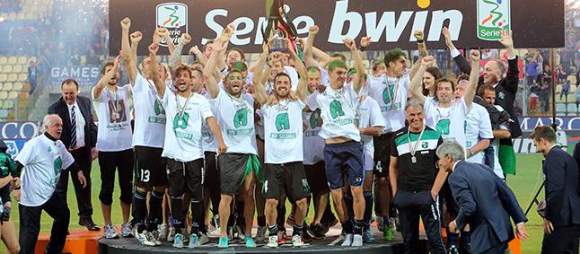 El Sassuolo ganó la Serie B el curso pasado.
