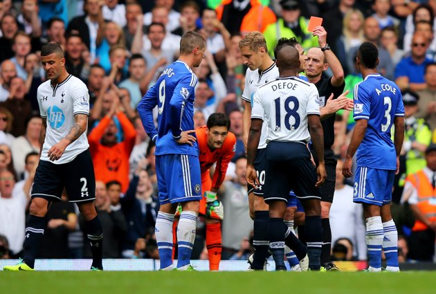 Fernando Torres sufrió su tercera expulsión en la Premier.