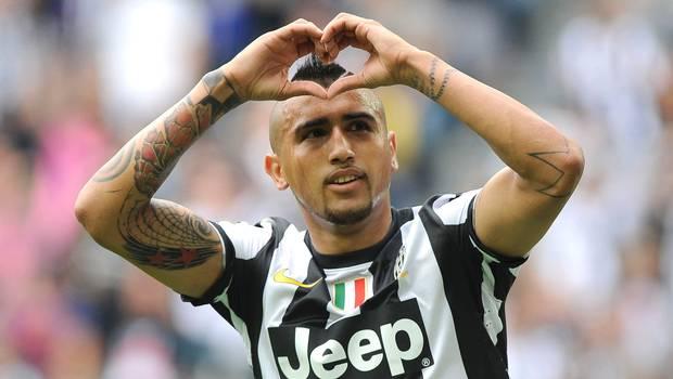 Vidal es la estrella actual de la Juventus.