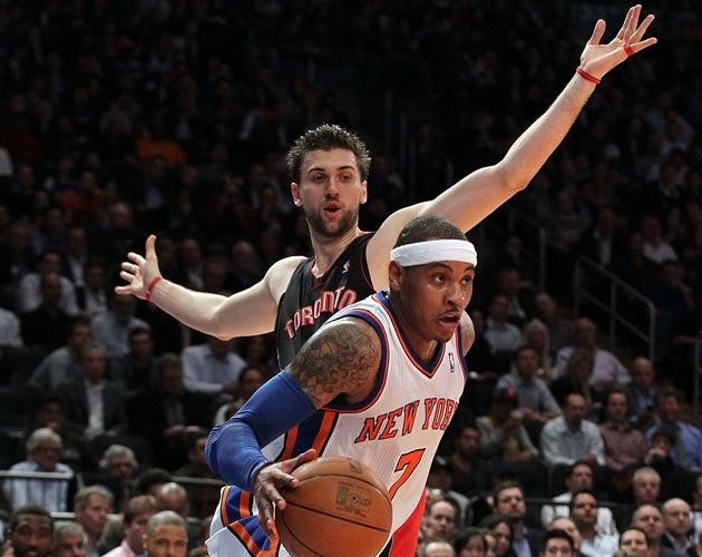 Carmelo Anthony and Andrea Bargnani will share a dressing room in New York.