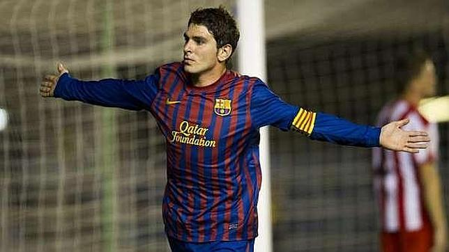 Jonathan Soriano in his time with Barca.