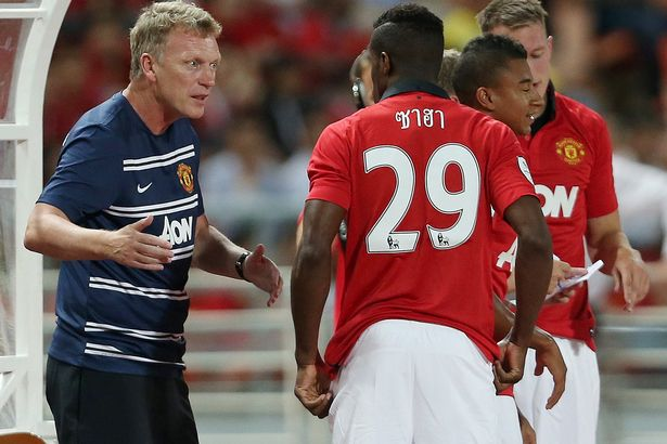 David Moyes and Zaha before it jumped the controversy.