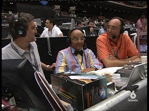 Montes junto a Iturriaga con el que compartió eventos como el Mundial de baloncesto de Japón.