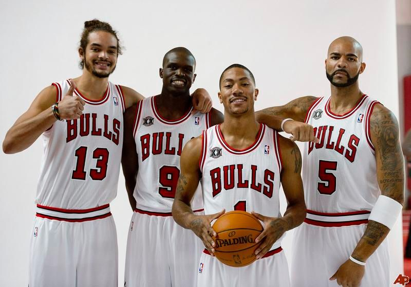 Noah, Deng, Rose and Boozer are the most important players in the Bulls.