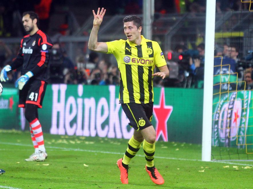 Lewandowski was the man who scored four goals against Real Madrid in the Champions League semi-finals.