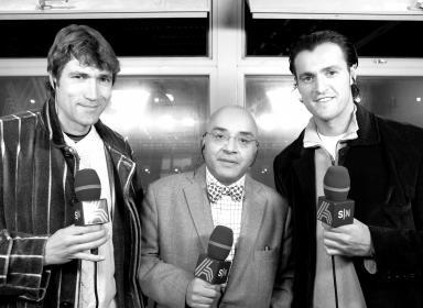 Montes junto a Julio Salinas y Kiko.