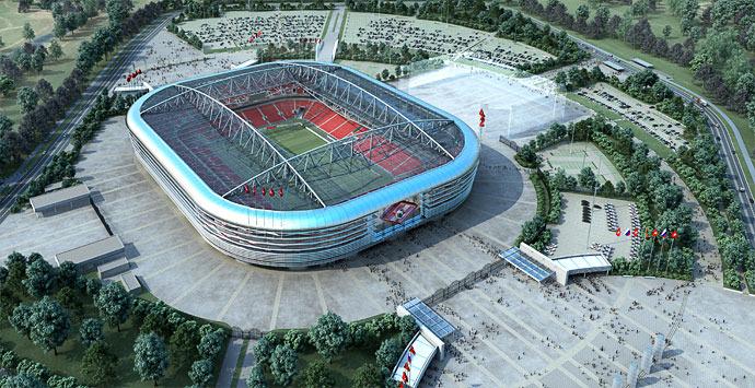 Rusia 2018 contará con un estadio espectacular: el del Spartak de Moscú.