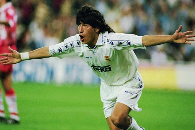 Amavisca und Zamorano: Iván Zamorano war der Pichichi der Liga 1994/95.