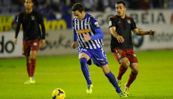 Borja Viguera los está enchufando de todos los colores en el Alavés.