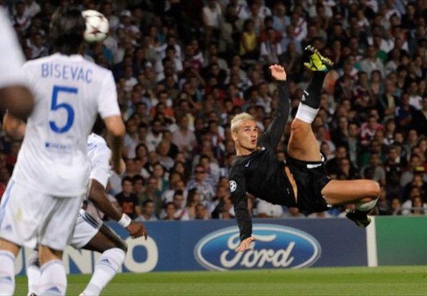 Griezmann le marcó un auténtico golazo al Lyon, club que le descartó y ahora le pretende.