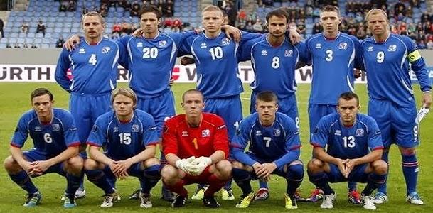 Die Startformation von Island hat viel Ziel.