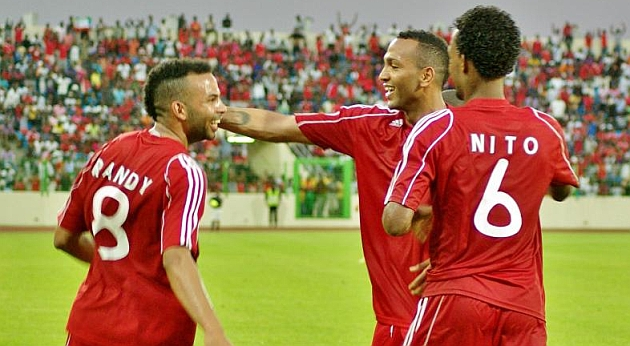 Randy and Emilio Nsue, two of the 12 Spaniards representing Equatorial Guinea.