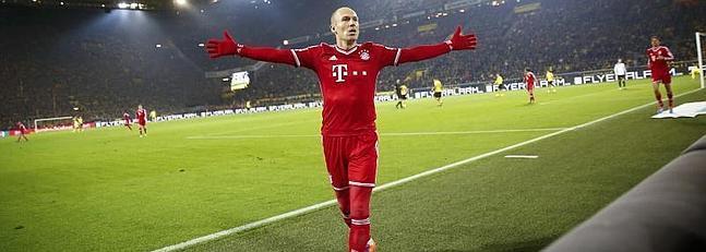 Robben marcó un bello gol de vaselina.