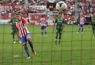 Serb has been uncovered as a scorer in the rows of Sporting Gijon.