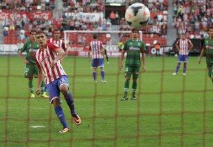 El serbio se ha destapado como un goleador en las filas del Sporting de Gijón.