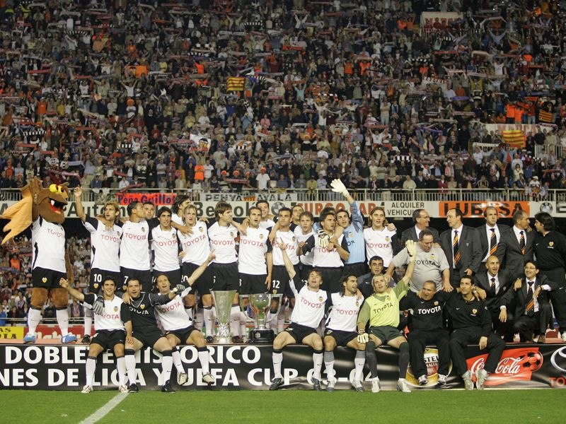 Spectacular image that surely remember with nostalgia the fans valencianistas.