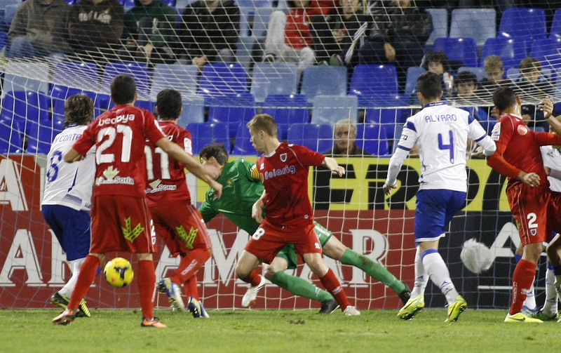Zaragoza gave a push against Numancia is very strong.