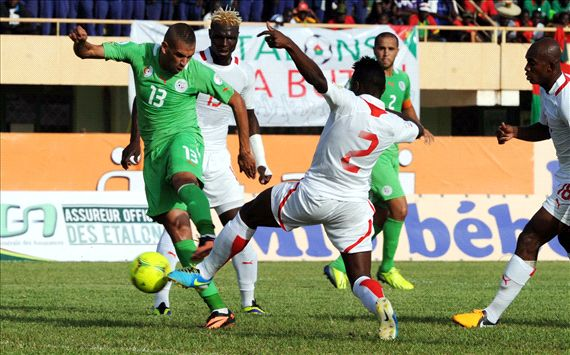 Algeria beat Burkina Faso 1-0 with a goal from a man who had to play.