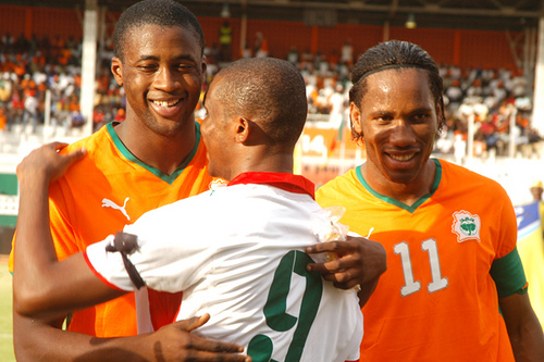 Touré, Drogba y Eto'o. Words are unnecessary...