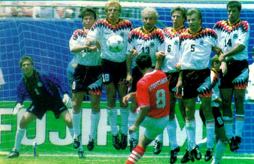 Stoitchkov marcó un golazo de falta ante Alemania.