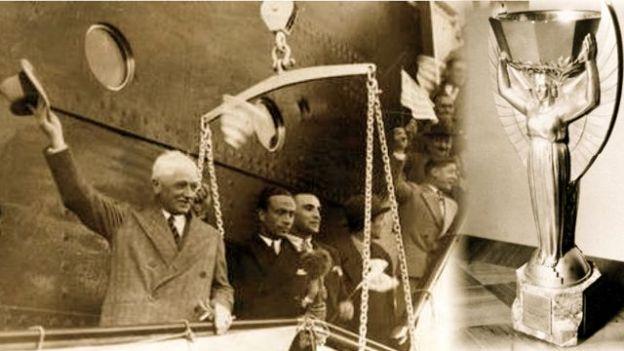 Su famoso viaje en barco a Uruguay.