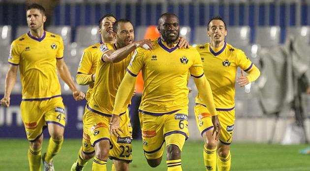 El gol de Babín acabó con la mala racha del Alcorcón.
