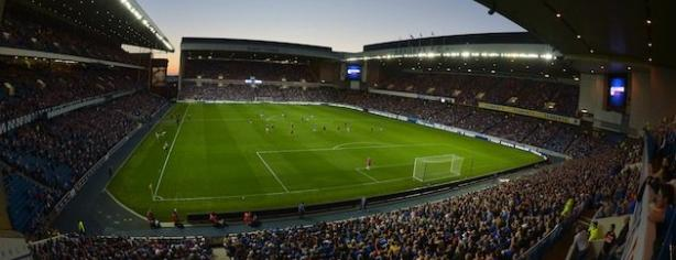 Ibrox Park, the home of Rangers.