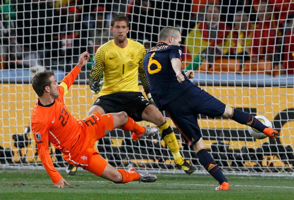 Iniesta marcó un gol que valió un Mundial en el Soccer City.