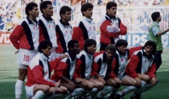 La selección de Costa Rica en el Mundial de Italia 90.