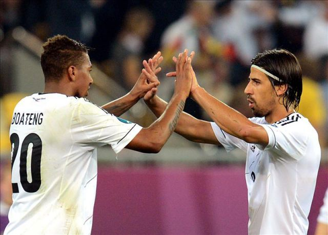 Burak agreed the lower of Germany with Khedira and Boateng.