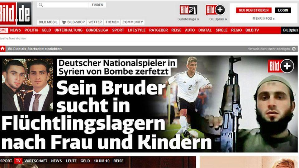 """Así sacaba la noticia el diario alemán """"Bild""""."""